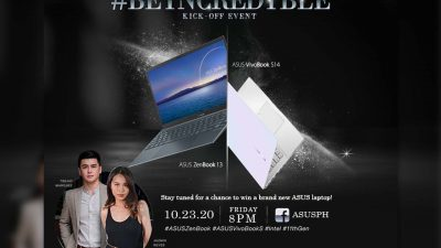 First Intel 11th Gen ASUS Laptops to Arrive Here in the Philippines