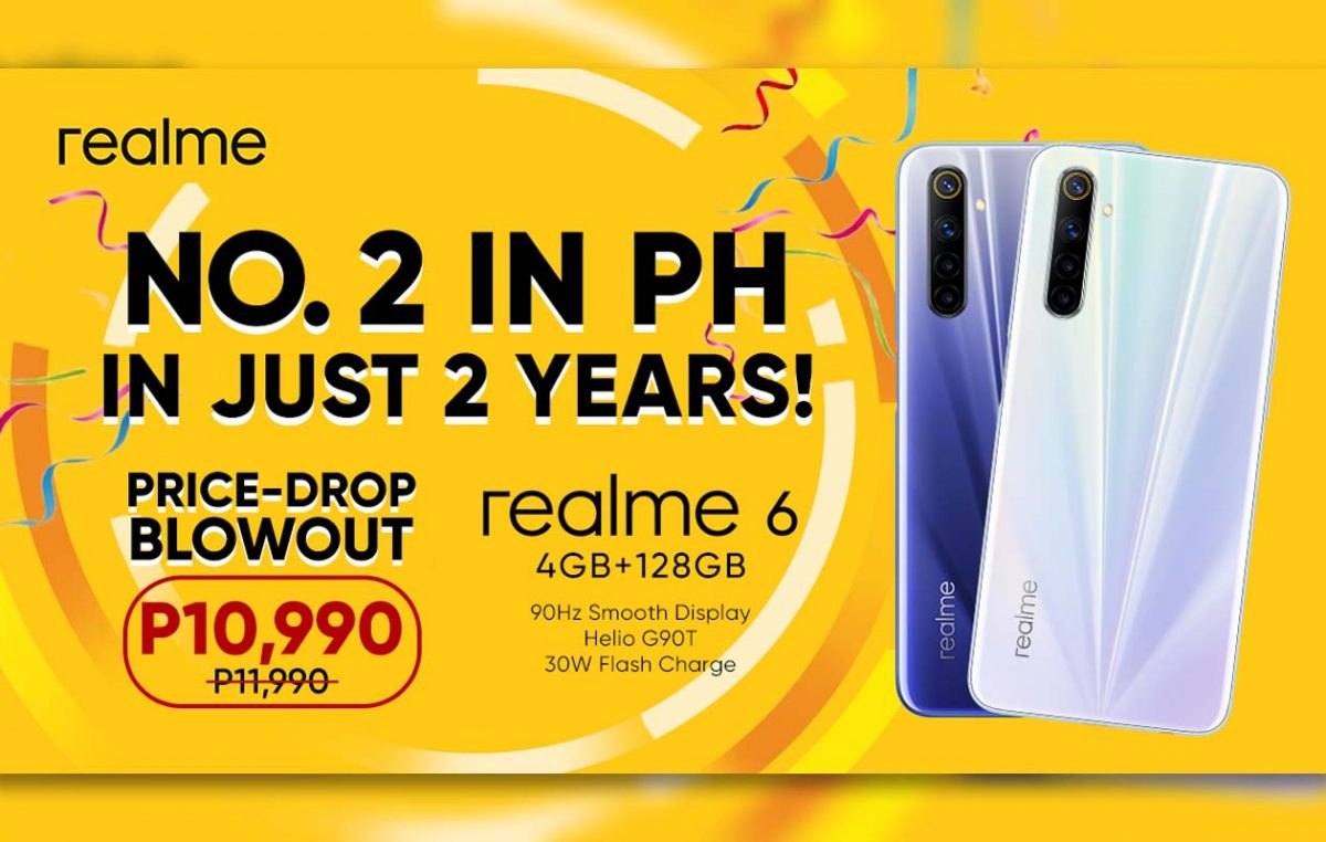 realme Philippines is Now Top 2 Smartphone Brand – realme 6 Price Drops