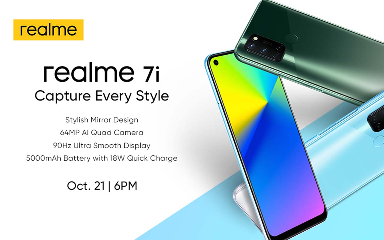 realme Philippines to Launch the realme 7i on October 21, 2020