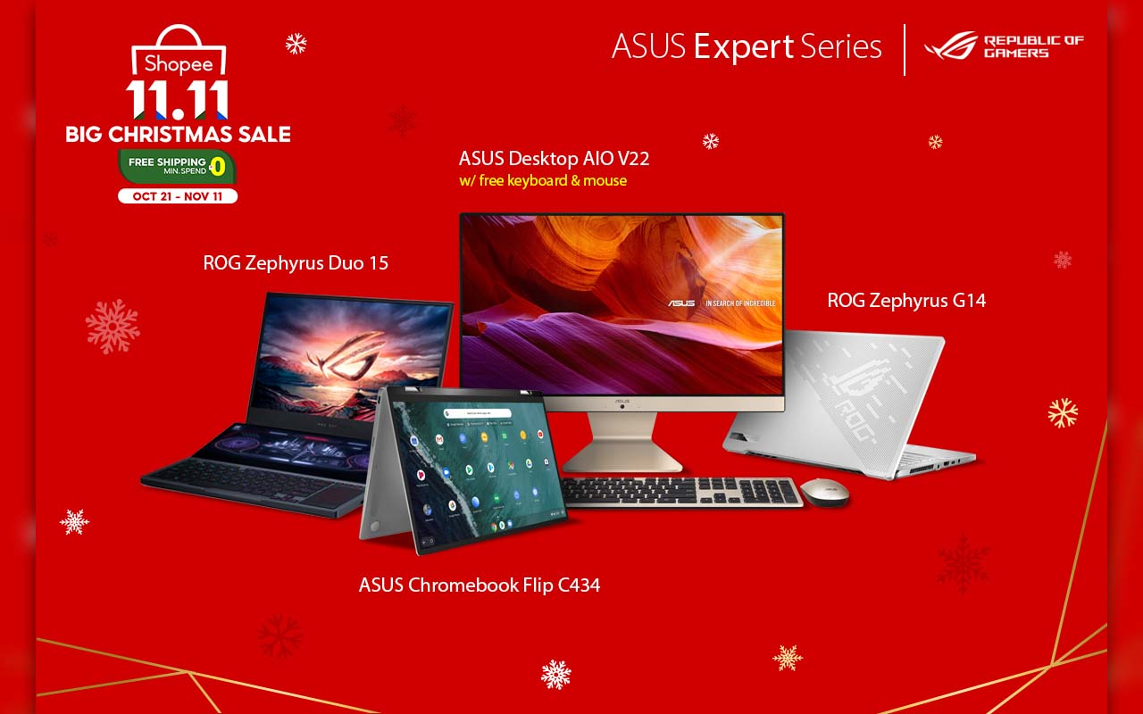 ASUS Expert Series and Republic of Gamers Join the Shopee 11.11 Sale