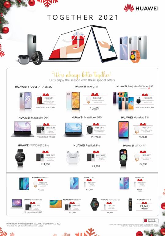 Huawei Together 2021 holiday season bundles