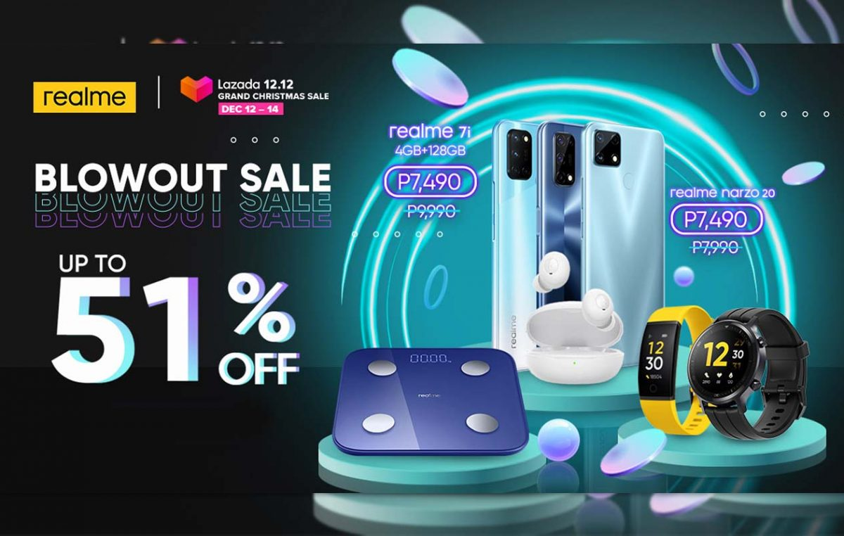 Lazada 12.12 Grand Christmas Sale – Up to 51% Off on realme Devices