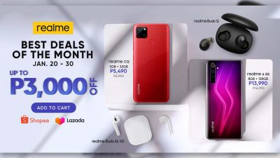 Score Up to PHP 3,000 Discount with the realme January Online Sale