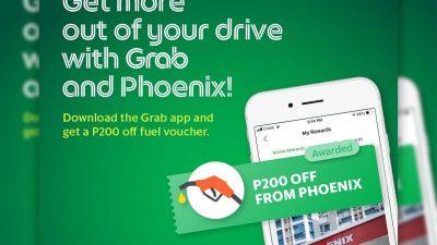 Grab Partners w/ Phoenix Petroleum – Free Fuel Vouchers for Davaoeños