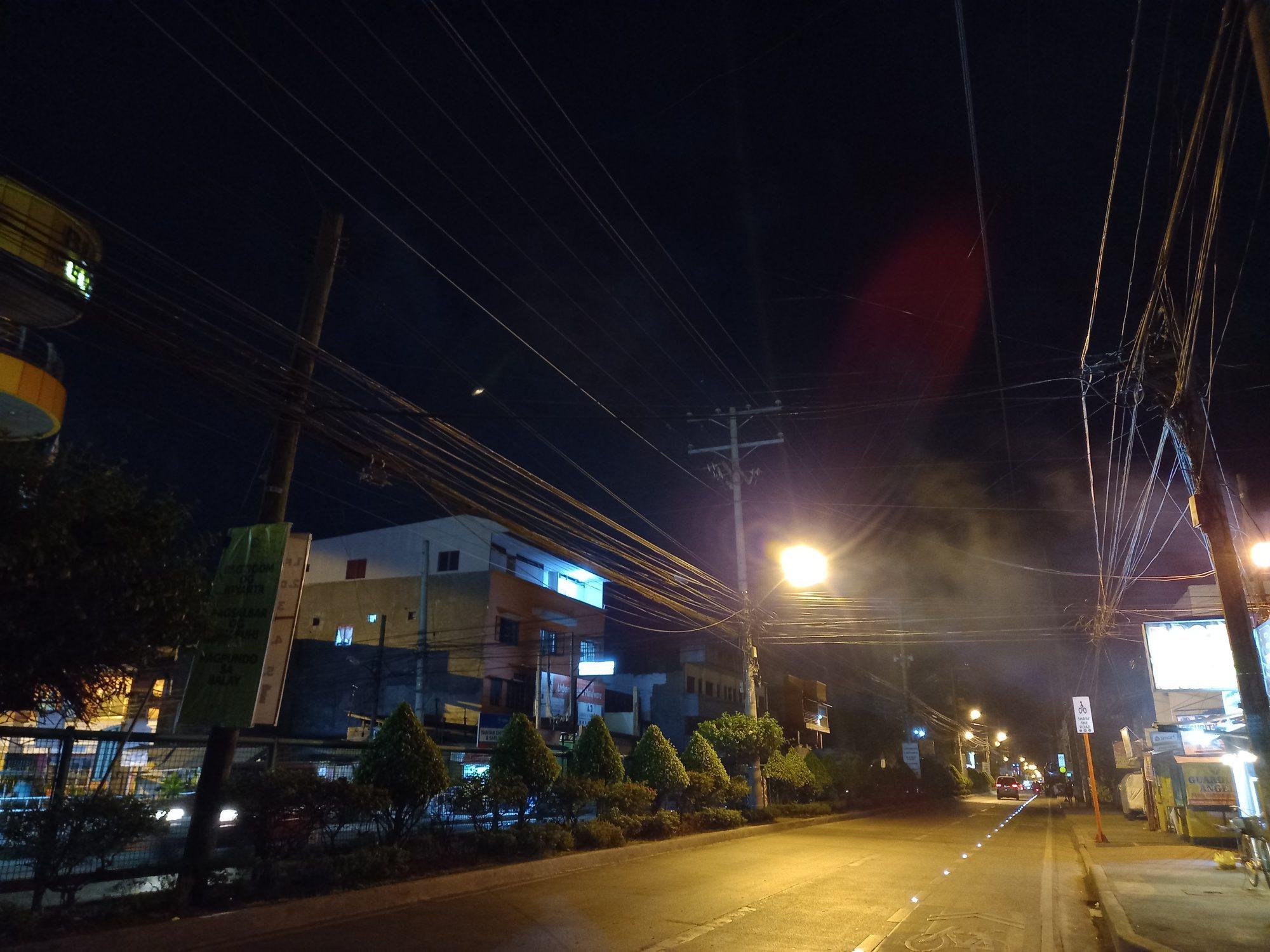 Night shot on Pro mode