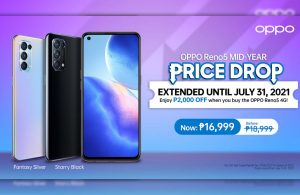 OPPO Reno5 4G and A15s Price Drop until July 31, up to ₱2,000 Off