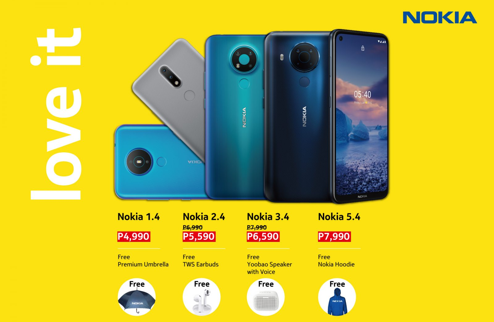 Rainy Season Sale – Great Deals for Nokia 2.4, 3.4, 5.4, and 1.4