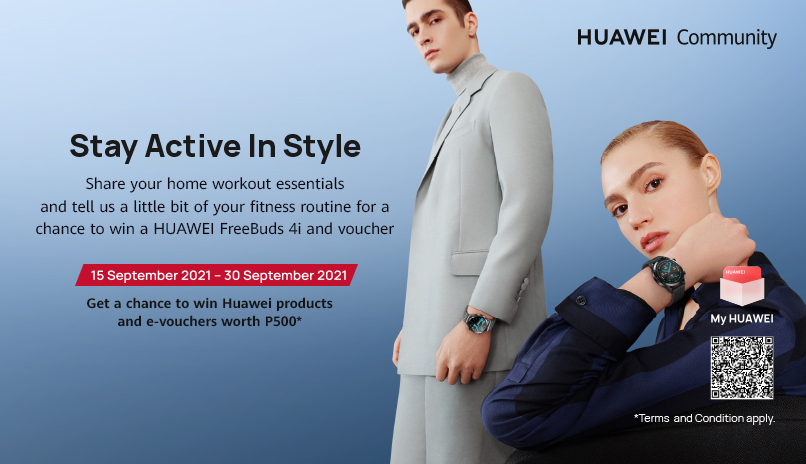 Huawei Buddies Stay Active in Style